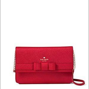 Kate Spade Kirk Park Saffiano Veronique Bag Red